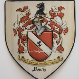 Gerhard Mounet Lipp: 'Coat of Arms metal shield', 2019 Acrylic Painting, Home. Artist Description: Sm.  medieval knight shield, heater shield.  This medieval shield is constructed of 16 gauge steel and measures 10 x 12 inch.  Back has chain for hanging.  For a high quality heraldic artwork each shield is hand painted with attention to details.  Depending on the complexity of the artwork ...