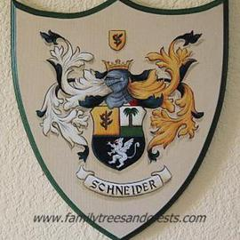Gerhard Mounet Lipp Artwork Custom Family Crest Plaque, Coat of Arms Shield , 2013 Acrylic Painting, Home