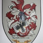 family crest knight shield By Gerhard Mounet Lipp