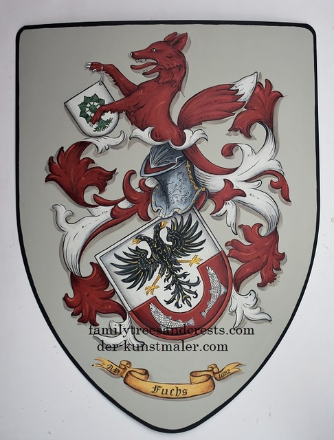 Gerhard Mounet Lipp  'Family Crest Knight Shield', created in 2018, Original Painting Other.