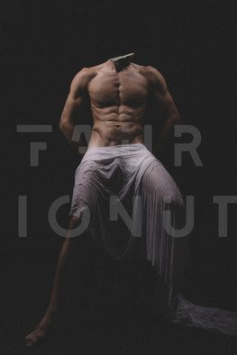 Faur Ionut: 'the stone hunter', 2020 Body Art, Nudes. Fine Art Photography Male Nude Canvas Print, Original Signed...