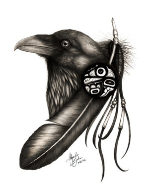 Alejandro Jake: 'Raven', 2016 Digital Print, Animals.  Raven ProjectCredit to the Raven Formline Native Art of the Northwest Coast - Ozzie Freidman | Ozzie Freidman of the Northwest coast   ...