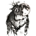 Wolf with Dream Catcher By Alejandro Jake