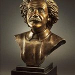 albert einstein bronze bust By Felix Velez