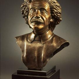 albert einstein bronze bust