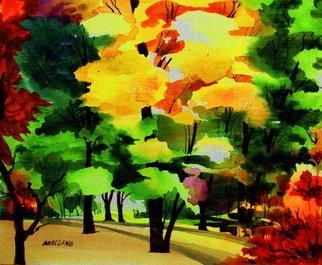 Ferdinand Maclang Artwork TREES, 2010 Acrylic Painting, Nature