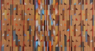 Geometric Acrylic Painting by Luiz Carlos Ferracioli titled: Construction 210, created in 2014
