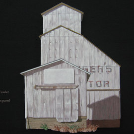 Stephen Fessler Artwork Gers Tor, 2010 Acrylic Painting, Architecture