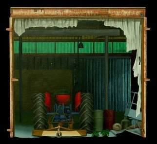 Stephen Fessler Artwork Green Band, 2010 Oil Painting, Americana