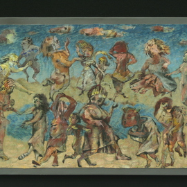 Stephen Fessler Artwork Lake Dancers, 2010 Oil Painting, Dance