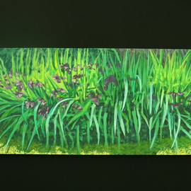 Stephen Fessler: 'Purple Lilies', 2011 Oil Painting, Floral. Artist Description:        A profusion of purple lilies. ...