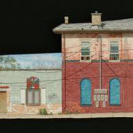 Stephen Fessler: 'The Little Street', 2013 Oil Painting, Architecture. Artist Description:     Inspired by Vermeer's painting of the same name, brick walls revealing layers of their history.        ...