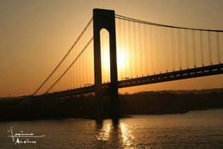 Color Photograph by Festina Dileo Guzzo Amaturo titled: Verrazano at Dusk, created in 2009