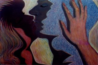 Bob Filbey Artwork The Kiss, 1989 Lithograph, Figurative