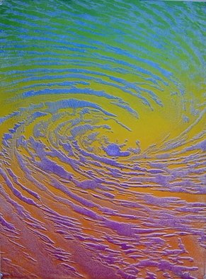 Bob Filbey: 'Whirlpool E', 1989 Lithograph, Seascape.  Handpulled lithograph. There are various other color versions available at the same price. ...