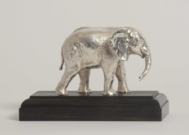 Artist Heinrich Filter. 'Elephant In Sterling Silver' Artwork Image, Created in 2013, Original Sculpture Other. #art #artist