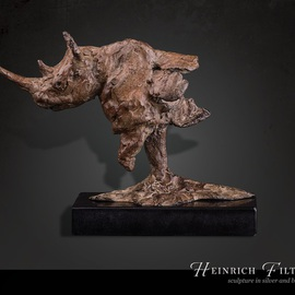 Heinrich Filter Artwork Vanishing, 2015 Bronze Sculpture, Wildlife