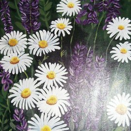 Deborah Landers: 'Glistening Dew', 2009 Acrylic Painting, Floral. Artist Description:  Fine Art, Modern Art, Flowers, Still LifeAcrylic Painting on Stretched canvas.         ...