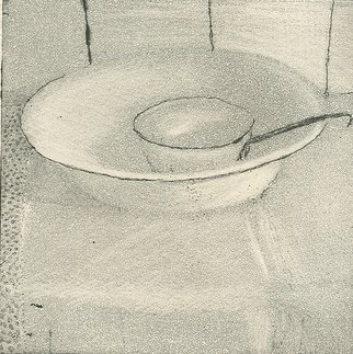 Frederick Jones: 'bowl', 2007 Etching, Still Life.  bowl in morning light, cabin in Swedish archipelago; burnished aquatint and spit- bite and sugar lift etching ...