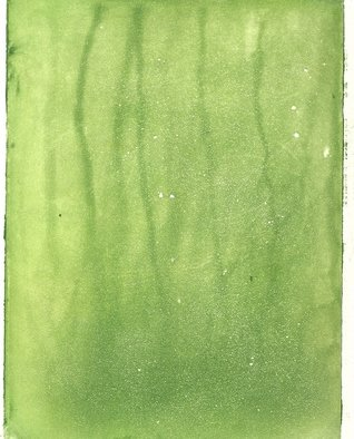 Frederick Jones: 'green', 2005 Etching, Abstract.  various intensities and striations of green; aquatint ...