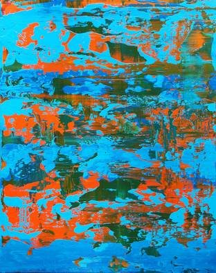 Paulo Flatau: 'corals', 2017 Acrylic Painting, Abstract. Artist Description: Abstract painting inspired by Gerhard Richter. ...