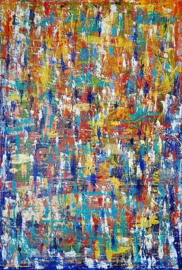 Paulo Flatau: 'hot cold', 2016 Acrylic Painting, Abstract. Artist Description: Abstract painting inspired by Gerhard Richter. ...