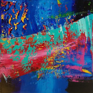 Paulo Flatau: 'samurai', 2017 Acrylic Painting, Abstract. Artist Description: Abstract painting inspired by Gerhard Richter. ...
