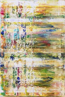 Paulo Flatau: 'w sound', 2017 Acrylic Painting, Abstract. Artist Description: Abstract painting inspired by Gerhard Richter. ...
