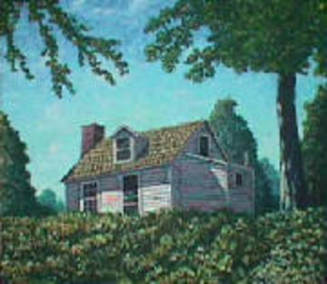 Frank Morrison  'Hill House', created in 2007, Original Mixed Media.
