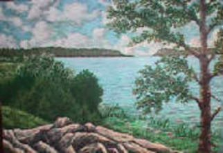 Landscape Acrylic Painting by Frank Morrison Title: Point Lookout    2, created in 2009