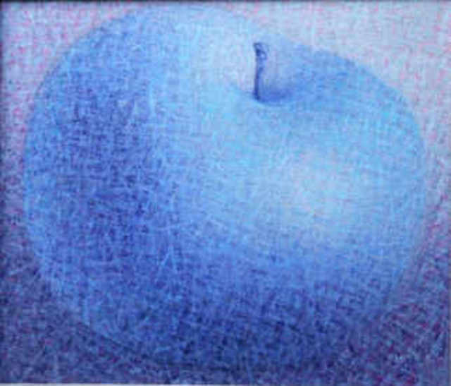 Artist Muntean Floare. 'Apple' Artwork Image, Created in 2011, Original Painting Acrylic. #art #artist
