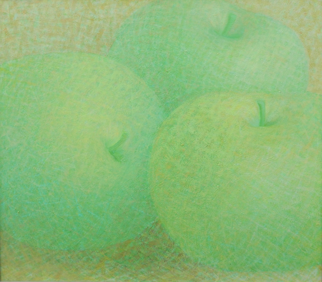 Artist Muntean Floare. 'Green Apples' Artwork Image, Created in 2008, Original Painting Acrylic. #art #artist