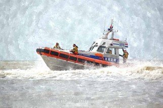 Floris De Mol: 'Lifeboat', 2012 Other Photography, Landscape. Artist Description:  Photo with water colours finish.Mentioned price refers to print. Other sizes and printing materials are possible.Limited edition of 5 prints.   ...