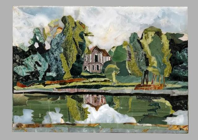 Nazir Khasanov  'Lake House', created in 2017, Original Mosaic.