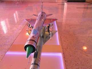Marcin Regulski: 'EXPERIMENTAL RUSSIAN SECRET DELTA FIGHTER ', 2014 Aluminum Sculpture, Aviation.  EXPERIMENTAL RUSSIAN DELTA FIGHTER Replica : 1/ 20 scale E- 152 A Experimental Russian Secret Fighter Interceptor with RADUGA K- 9 missiles. COMPOSITION : Steel, Aluminum. DESCRIPTION : The model is made by the pilot, artist, painter and aviation modeler Marcin Regulski . Made from zero with the plans. Every detail with Inspiration and...