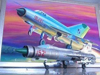 Marcin Regulski: 'Replica E 152 A Experimental Russian Secret Delta Fighter Interceptor', 2014 Aluminum Sculpture, Aviation. Artist Description:  EXPERIMENTAL RUSSIAN DELTA FIGHTER Replica : 1/ 20 scale E- 152 A Experimental Russian Secret Fighter Interceptor with RADUGA K- 9 missiles. COMPOSITION : Steel, Aluminum. DESCRIPTION : The model is made by the pilot, artist, painter and aviation modeler Marcin Regulski . Made from zero with the plans. Every detail with ...