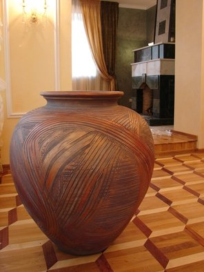 Mikhail Fomiryakov: 'Vase', 2009 Handbuilt Ceramics, Ethnic. Artist Description:  Ceramic figure for decoration created by a famous Russian sculptor and potter Mikhail Sadovnikov.Will be perfect for various purposes of decoration both indoors and outdoors.  ...