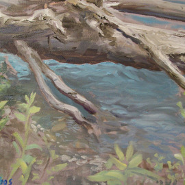 James Foos Artwork Rainforest Runoff, 2008 Oil Painting, Landscape