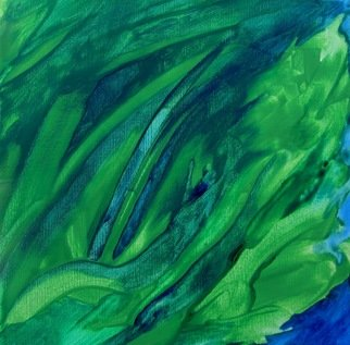 Luis Formaiano: 'Anahata Chakra Inhaling', 2010 Acrylic Painting, Abstract.  26th painting in a series of 50 representing the chakras. This one deals with the fourth chakra and expresses the power of the element Air and sublime love   ...