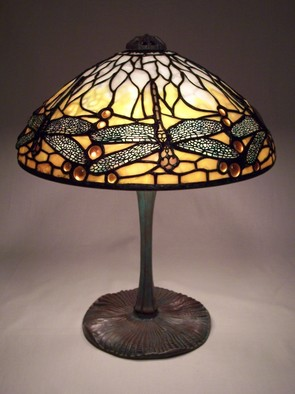 Stained Glass by Lance Foshe titled: 14in Dragonfly, 2012