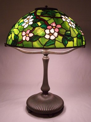 Stained Glass by Lance Foshe titled: 16in Apple Blossom, created in 2011