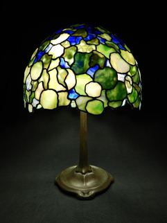 Stained Glass by Lance Foshe titled: 16in Hydrangea, created in 2013