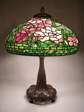 Stained Glass by Lance Foshe titled: 22in Peony Turban, created in 2012