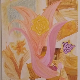Menno Willemse Artwork Springtime Melody, 2016 Oil Painting, Garden