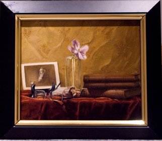 David Thompson: 'praeterita', 2017 Oil Painting, Still Life. Artist Description: Inspired by my love and admiration for the great writer and critic John Ruskin. The title is the title of his strangely wonderful autobiography...