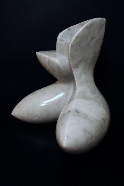 Francesca Bianconi  'Seated Figure', created in 2000, Original Sculpture Bronze.