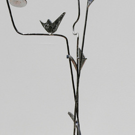Menthe Wells Artwork Shaped Ascension, 2012 Steel Sculpture, Abstract