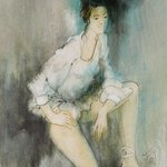 ballerina with white tutu  By Franck Ll