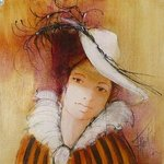 girl with a hat  By Franck Ll