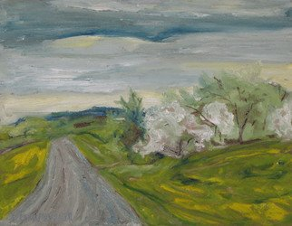 Artist: Francois Fournier - Title: Spring Country Road - Medium: Oil Painting - Year: 2013